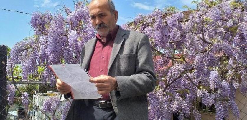 Yaşlı adam, koronavirüse şiirle tepki gösterdi