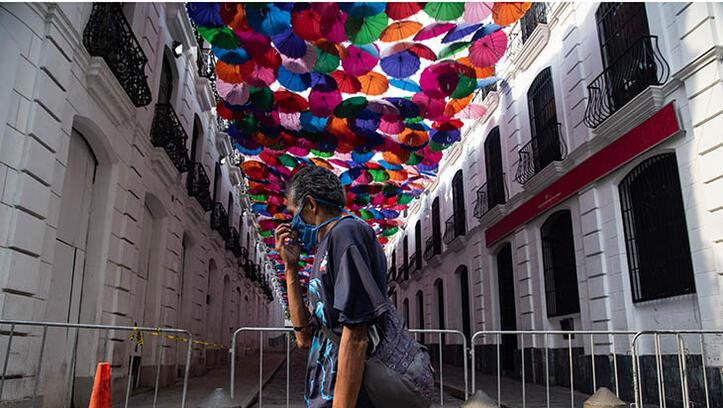 Caracas'ta corona virüs önlemleri