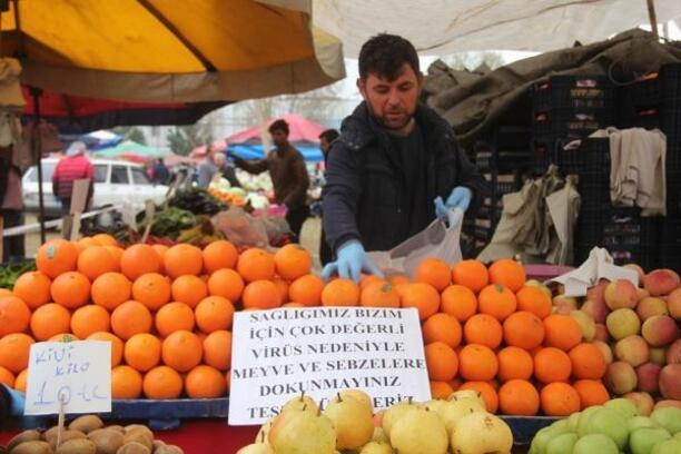 Sarıgöl pazar yerinde geniş güvenlik önlemleri alındı
