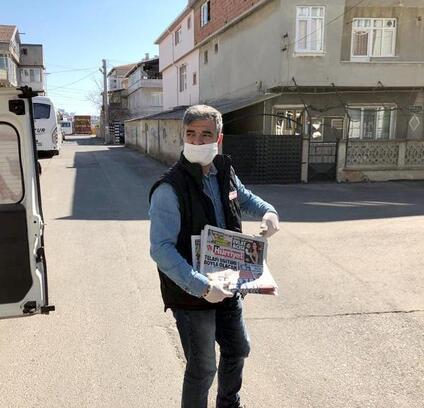 Çerkezköy'de kuryeler gazeteleri okuyucularla buluşturdu