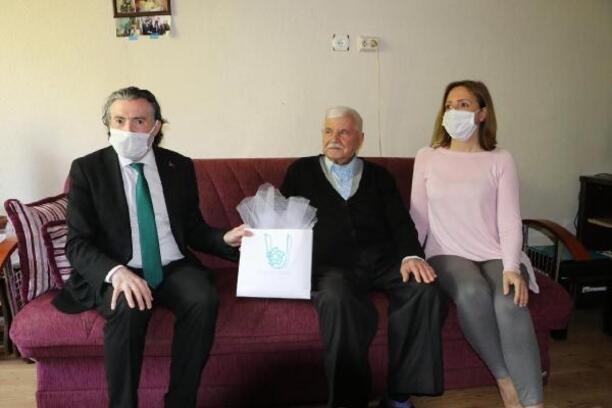 Tekirdağ'da kimsesiz ve hasta vatandaşlara bayram ziyareti
