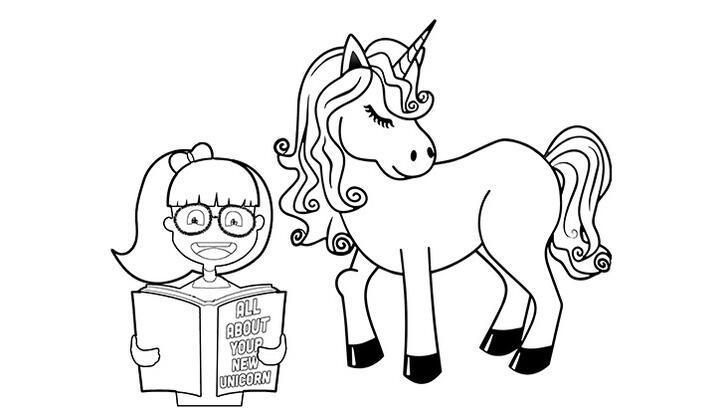 Unicorn boyama sayfası