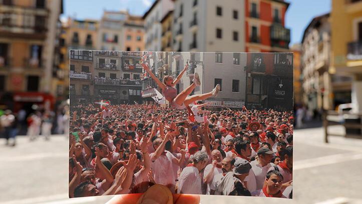 Pamplona'da San Fermin sessizliği