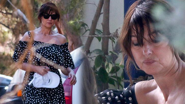Monica Bellucci'nin dalgın halleri dikkat çekti