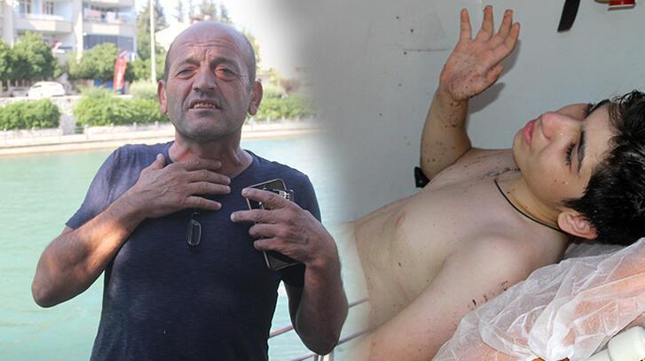 Boğulma tehlikesi geçiren 2 genci kebapçı kurtardı!