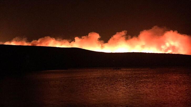 İzmir'de yangın paniği! 4 site boşatıldı
