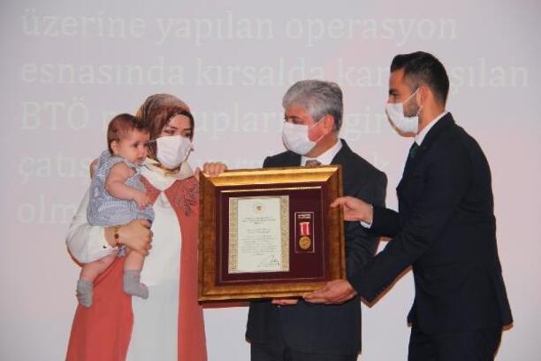 Hatay'da Devlet Övünç Madalyası ve Beratı töreni