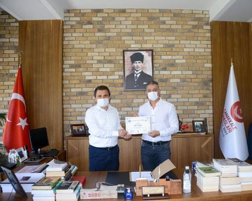 Türkiye Sualtı Sporları Federasyonu Başkanı Özen, Alan Başkanı Kaşdemir'i ziyaret etti