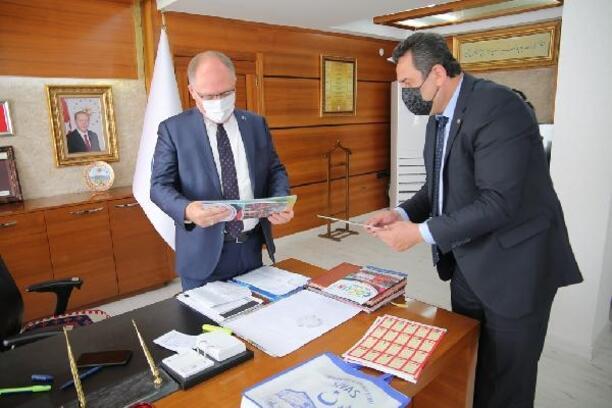 İtfaiye teşkilatından Başkan Bilgin'e ziyaret