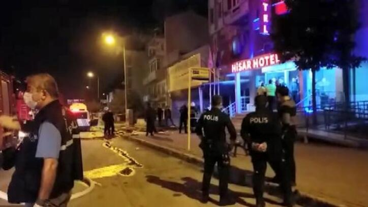 Bursa'da oto yıkama dükkanında çıkan yangın söndürüldü
