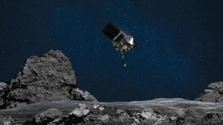 NASA'nın uzay aracı gök taşı örneklerini kapsüle yerleştirdi