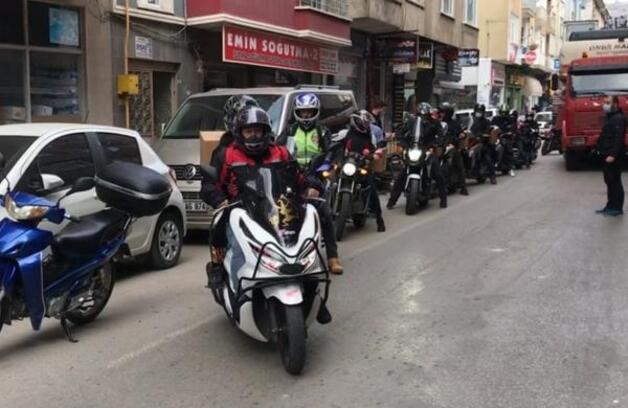 Sinop'ta motosiklet kulübünden İzmir'e destek