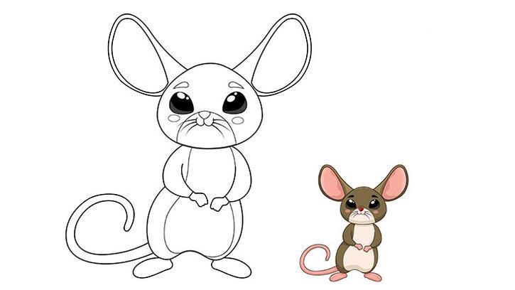 Minik fare boyama sayfası