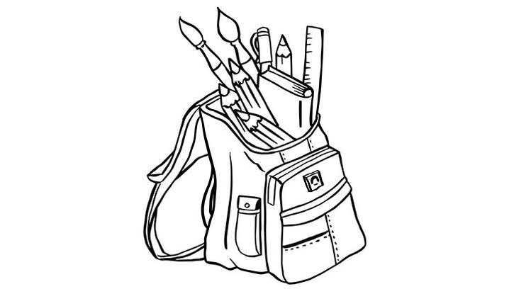 Okul çantası boyama sayfası