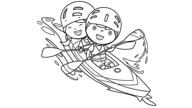 Zeynep ve Tolga'yı boyama sayfası