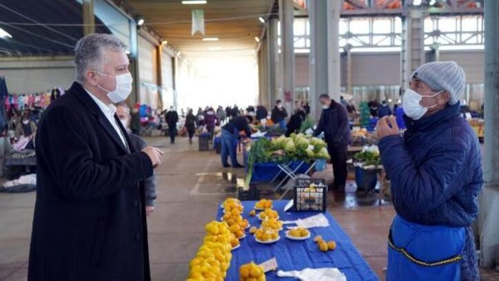 Lüleburgaz Belediye Başkanı Gerenli'den koronavirüs denetimi