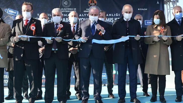 TBMM Başkanı Şentop, Tekirdağ-Hayrabolu Yolu Kandamış Kesimi Açılış  Töreni'ne katıldı