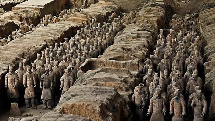 Çin'in kilden askerleri Terracotta Savaşçıları