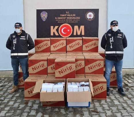 Tokat'ta kaçak tütün operasyonu