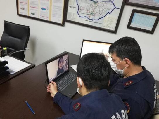 Gercüş'te jandarmadan çocuklara uzaktan eğitimle trafik dersi
