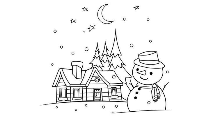 Kardan adam boyama sayfası