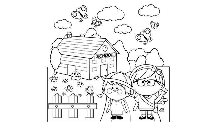 Okul boyama sayfası