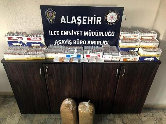 Alaşehir'de 10 kilo kaçak tütün ele geçirildi