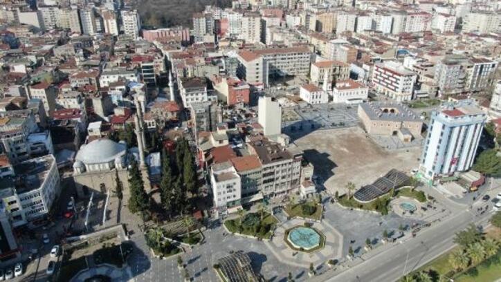 Samsun'da Saathane Meydanı tarihe ışık tutacak