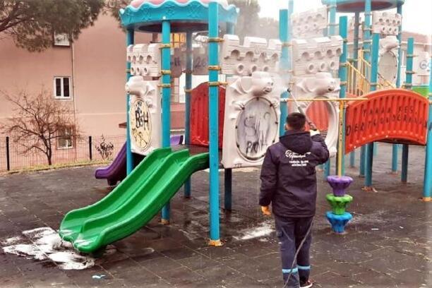 Süleymanpaşa'da dezenfeksiyon çalışmaları sürüyor