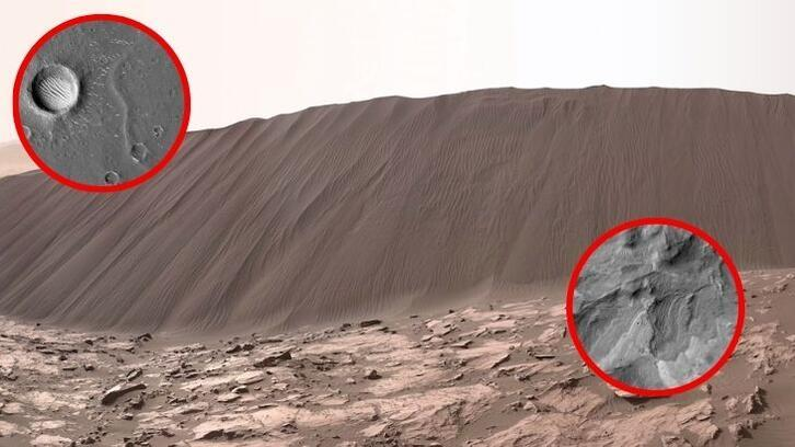 Çin, Mars'tan yüksek çözünürlüklü yeni fotoğraflar paylaştı