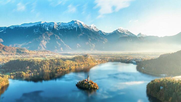 Slovenya'nın doğa harikası Bled Gölü