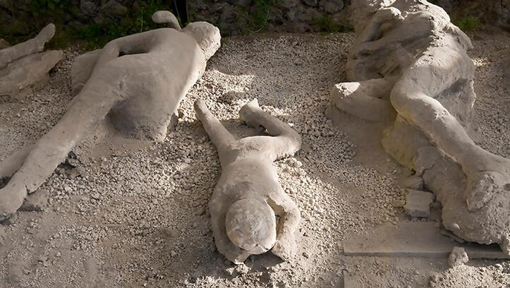 Pompeii Antik Kenti 15 dakikada yok olmuş