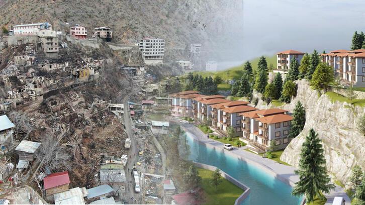 Artvin'de yanan köyde inşa edilecek konutların projesi hazırlandı