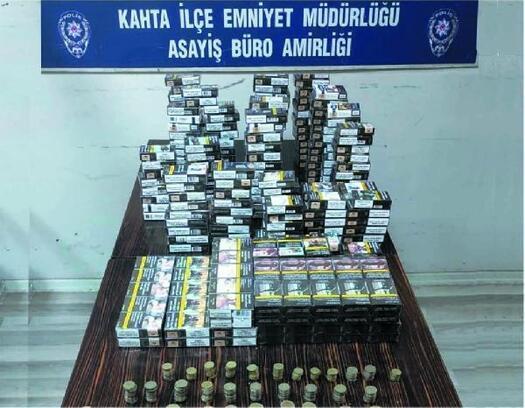 Kahta'da sigara hırsızlığına 3 tutuklama