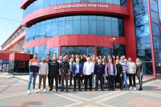 Başkan Erdem, Nilüfer Belediyespor'u ziyaret etti