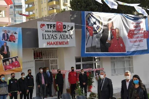 Hakem İlyas Ayan'ın adının verildiği parkı Başkan Çetin açtı