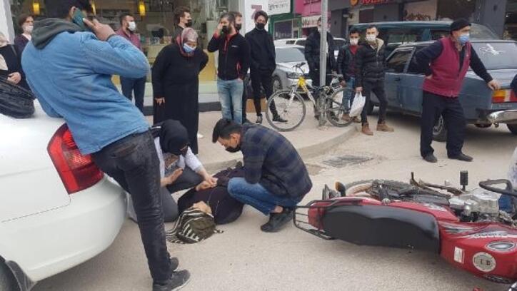 İnegöl'de otomobille motosiklet çarpıştı: 1 yaralı
