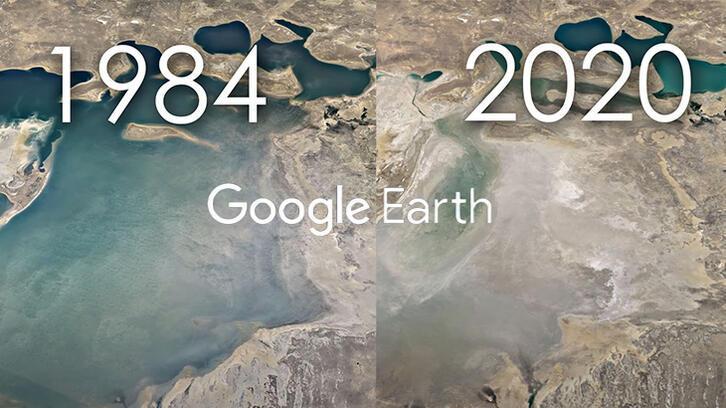 Zamanda yolculuk yaptıran  'Google Earth' özelliği