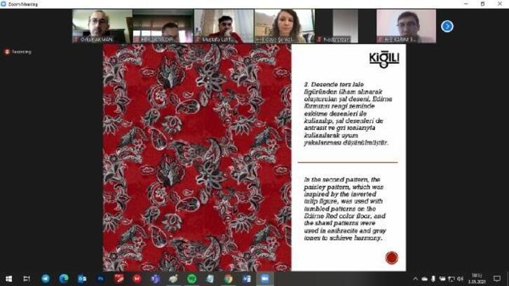 Edirne kırmızısı, uluslararası kongrede