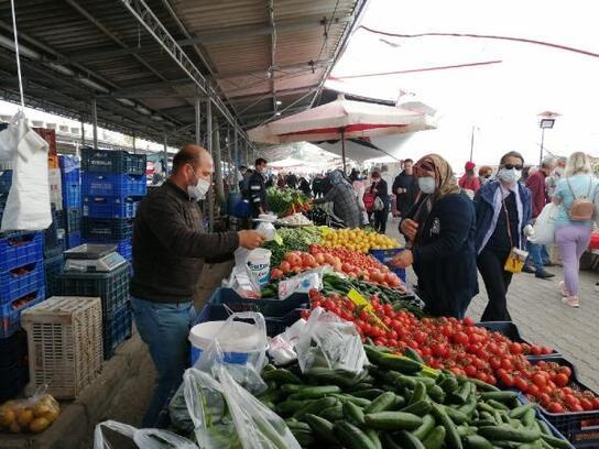 Kemer'de pazar yerlerinde önlem
