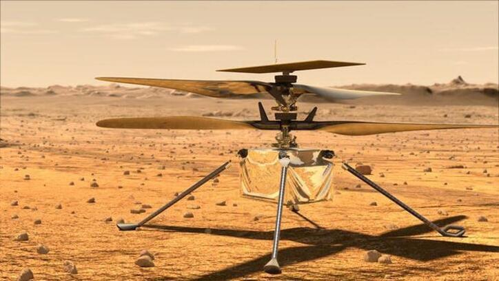 Ingenuity adlı Mars helikopterinin uçuşu sırasındaki sesi kayıtlara geçti