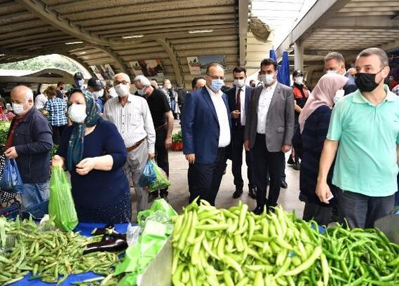 Bursa'da pazarlar denetlendi