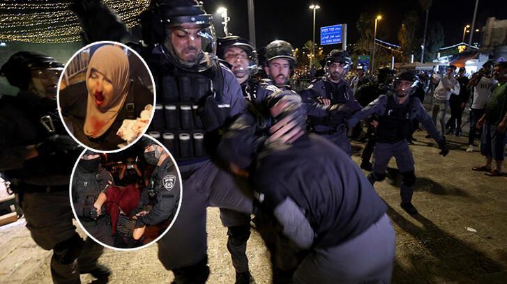 Son dakika: Savaş alanına döndü! İsrail polisinden Filistinlilere korkunç saldırı