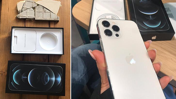 iPhone 12 Pro Max satın alan kadına büyük şok!