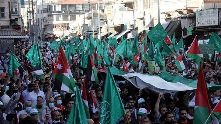 Son dakika... Ürdün'de binlerce kişi Filistin'e destek gösterisi düzenlendi!