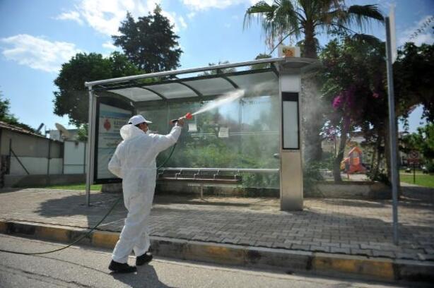 Kemer Belediyesi'nden dezenfekte çalışmaları