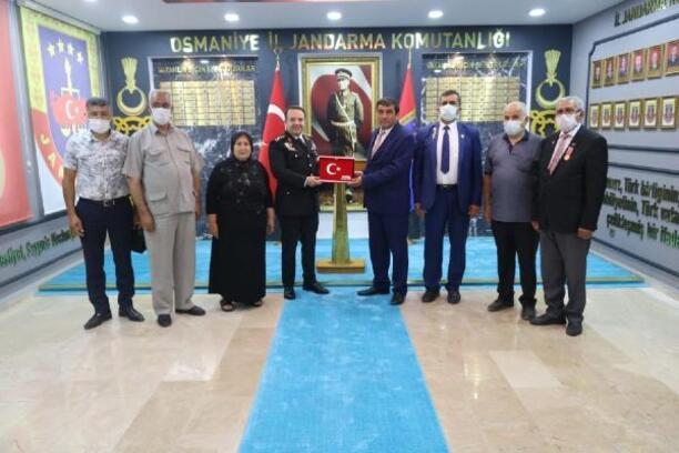 Şehit ailelerinden, Jandarmaya 182. yıl ziyareti