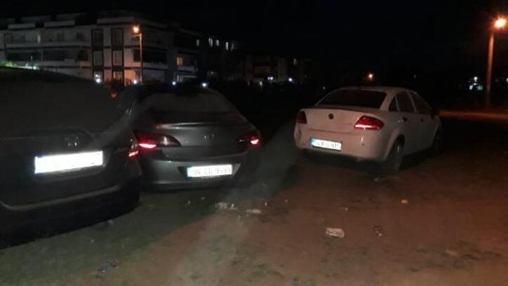 Karasu'da, site önündeki kaza korkuttu