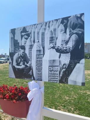 """Esenler'de """"Srebrenitsa Soykırımı"""" sergisi açıldı"""
