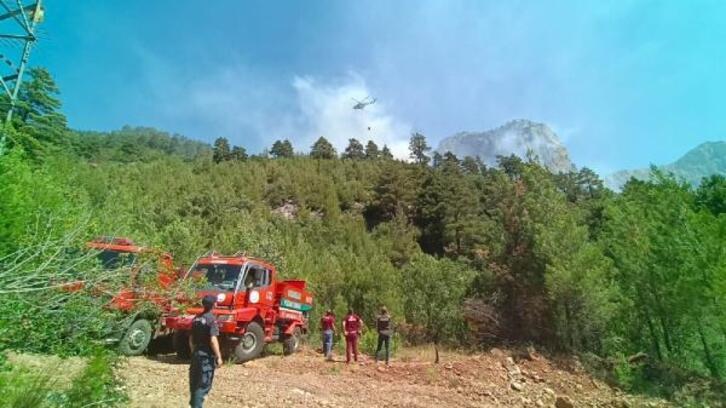 Pozantı'da orman alanı yandı